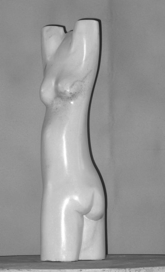 Marmor, Carrara, Torso, weiß