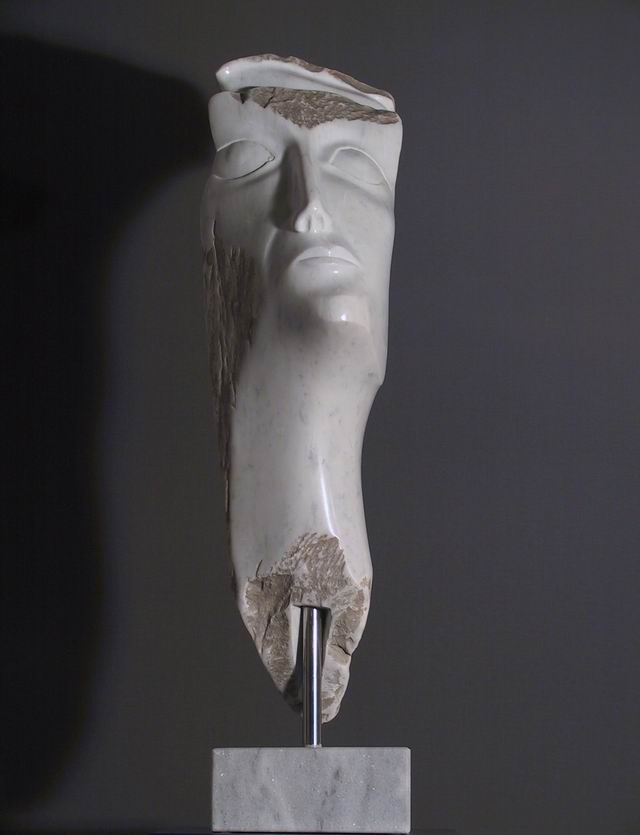 Marmor, Carrara, Kopf, weiß