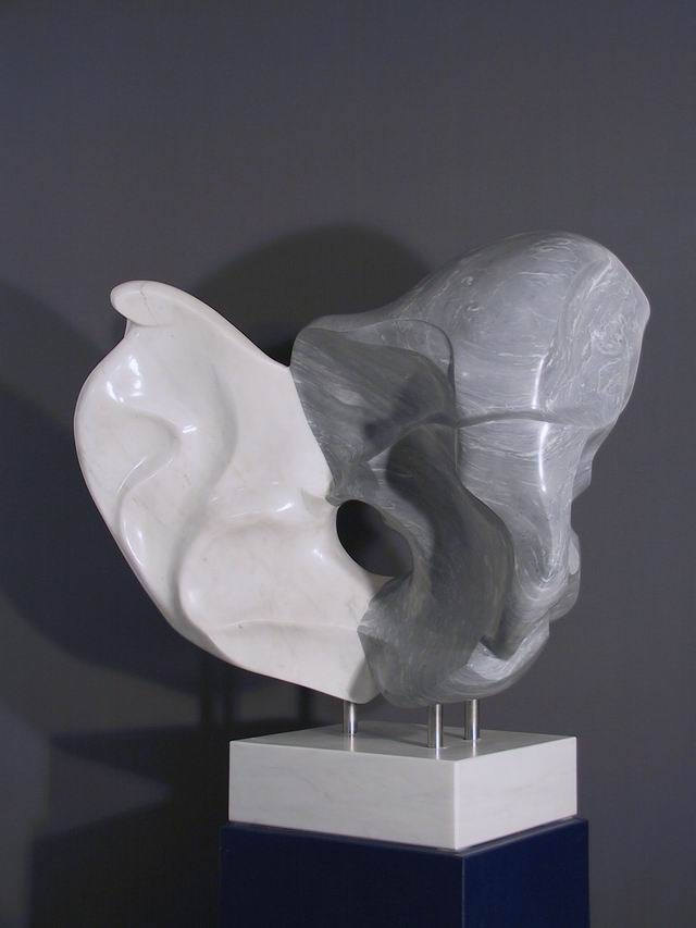 Marmor, Carrara, weiß, grau