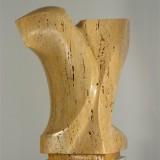 Skulptur, 53 cm Travertin